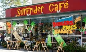 """Downtown Santa Cruz (they have fried pickles!!) Surfrider Cafe is owned and operated by the Boulder Creek Brewery. We also brew under the moniker of Santa Cruz Brewery. We've been brewing hand crafted award winning beers for over twenty years. Surfrider cafe menu focuses on having the best burgers, beers and shakes in Santa Cruz. We also serve what we call """"California beach cuisine"""", An eclectic mix of fresh, organic, sweet, savory, local and down home delicious food. #MyHometownPins"""