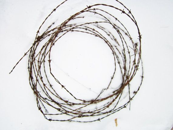 Barbed Wire Fencing, Rusted Wire, Old Fencing, Craft Supply, Twisted Wire, Western Decor, Rustic Decor, Vintage Barbed Wire