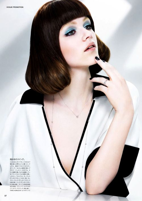 Rasa Zukauskaite by Kaz Arahama for Vogue Japan, December 2012