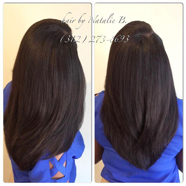 Long, layered sew-in hair weave! FLAWLESS SEW-IN HAIR WEAVES by Natalie B. (312) 273-8693...IG: @iamhairbynatalieb ...FACEBOOK: Hair by Natalie B. .....ORDER HAIR: www.naturalgirlhair.com.