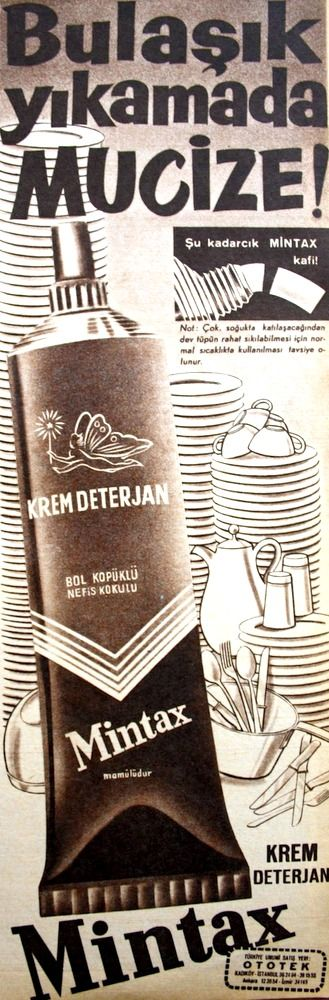 OĞUZ TOPOĞLU : mintax 1962 senesi nostaljik eski bulaşık deterjan...