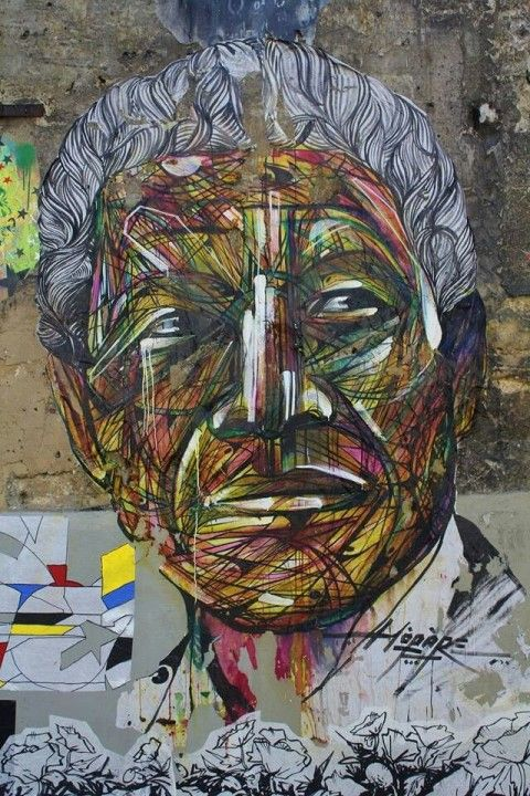 Nelson Mandela by Hopare in Paris, France RIP Nelson Mandela ~ You have moved humanity forward and blessed us all by your unwavering dedication for a cause whose time had come long before you shined your light upon it. You are an inspiration to all that one person can indeed change the world forever ♥ DofB