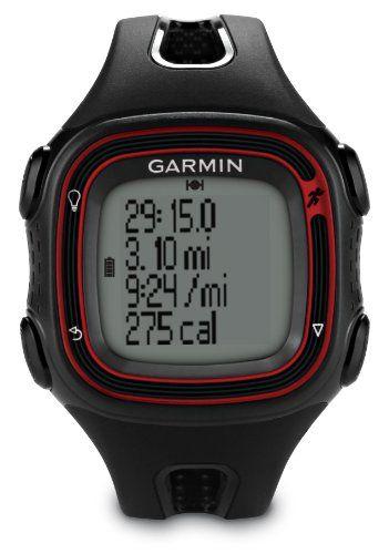 Garmin Forerunner 10 GPS Running Watch - Black/Red Garmin  Running GPS and heart monitor watch