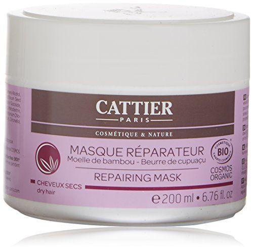 CATTIER Masque Capillaire Réparateur 200 ml: Sa formule, enrichie en beurre de cupuaçu et moelle de bambou, protège et gaine la fibre…