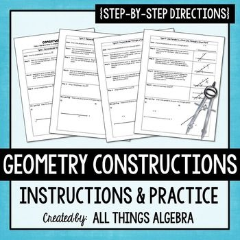 Geometry Constructions - Instructions with PracticeInstructions and practice are…