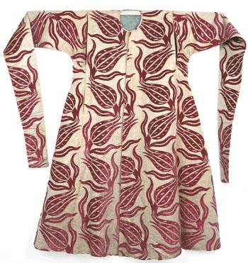 16th century long-sleeved robe with tulip design • tailored in Turkey from imported Italian silk velvet (?) • Topkapi Saray Museum Istanbul