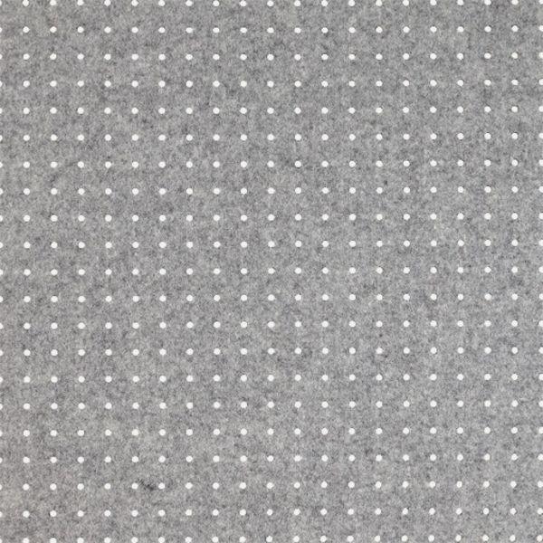 Filt med huller - grå  Filt med huller - grå  3 mm.  42 x 42 cm.