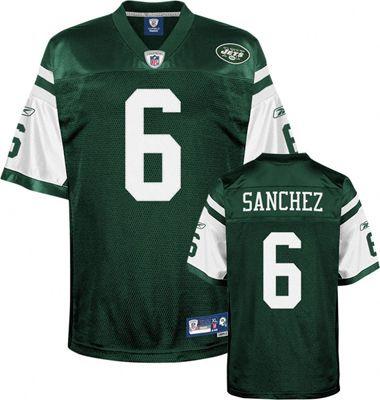 Reebok New York Jets Mark Sanchez 6 Green Authentic Jersey Sale