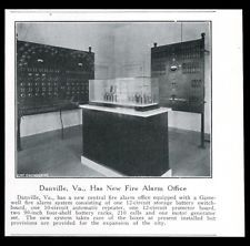 1937 Danville Virginia FD office photo Gamewell fire alarm system trade article