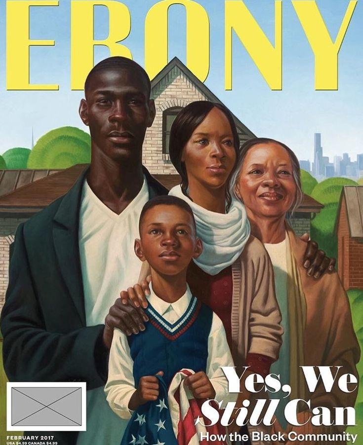 2017 Ebony Mag cover illustrated by Kadir Nelson