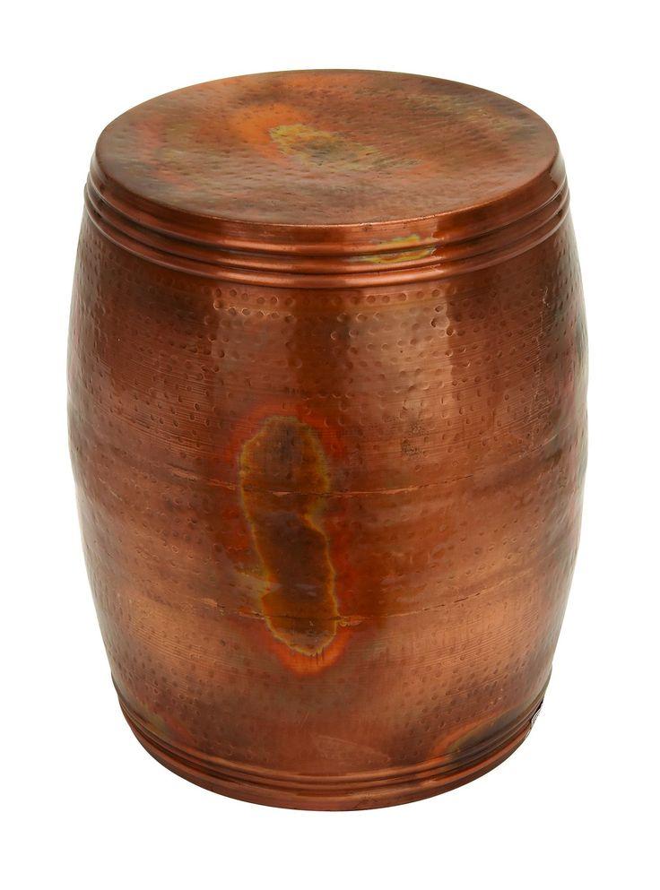 Vintage Inspire Metal Copper Stool