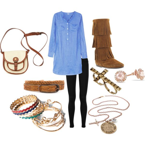 Tunic with a Fringe Boots