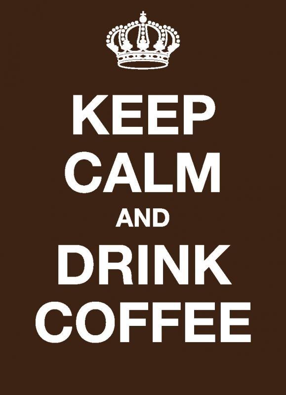KC008 - Ansichtkaart - Keep calm and drink coffee   Keep Calm   kaartfanaat