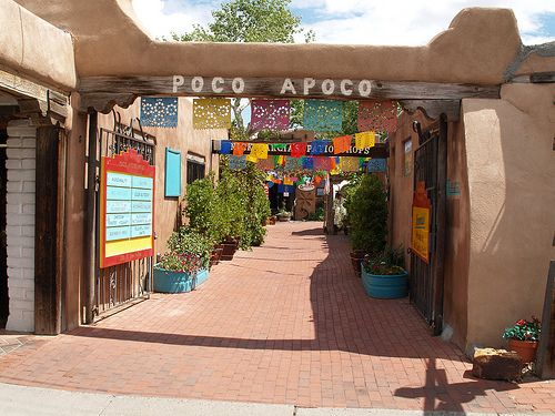 "Old Town Albuquerque New Mexico....""Poco apoco"" little by little I worked here for years."