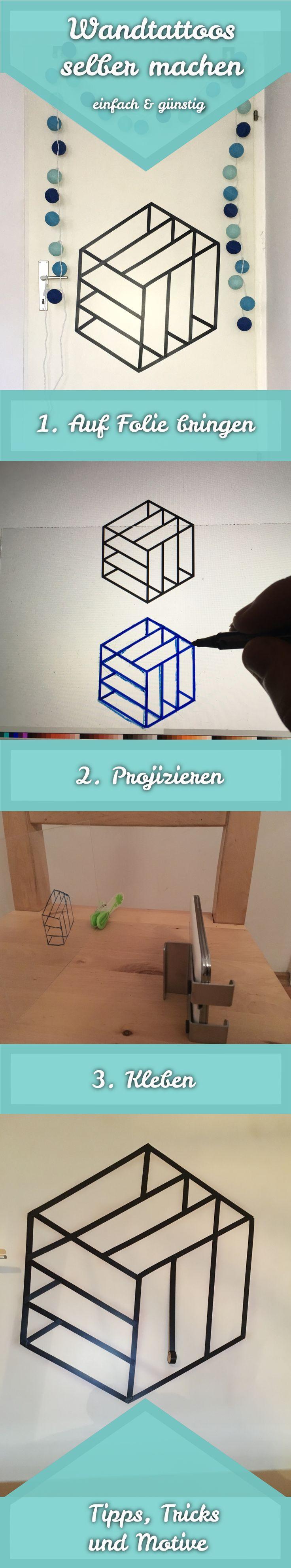 Mit dieser einfachen Anleitung zum Wandtattoo selber machen kannst du ganz leicht und super günstig (<5€) deine Wände oder Türen verschönern.