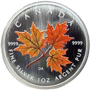 silver maple leaf coin canada