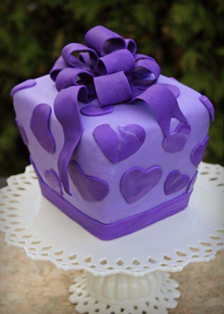 Purple gift wrapping...