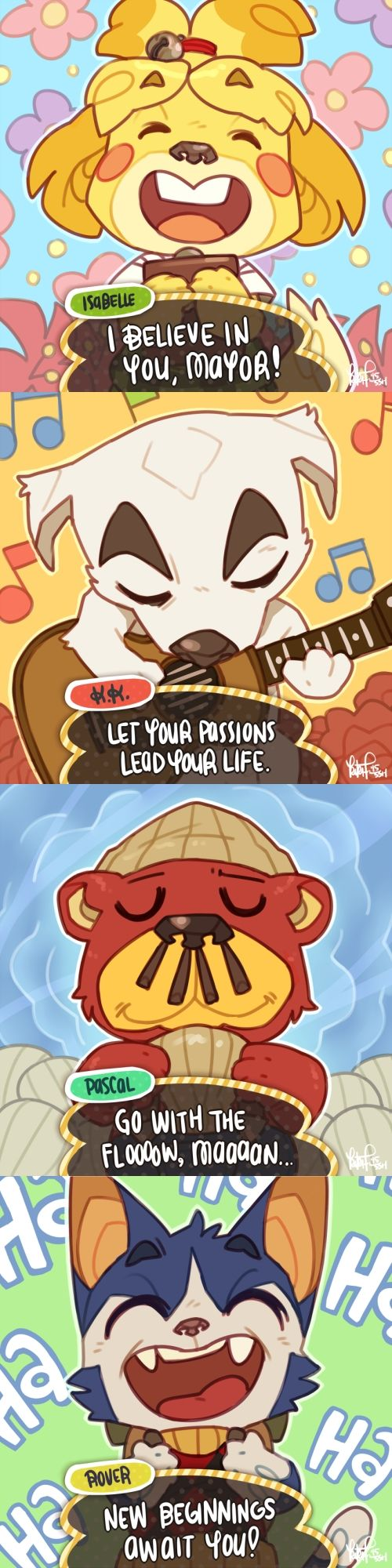 (Animal Crossing) Let the animals of Animal Crossing motivate you! ♡