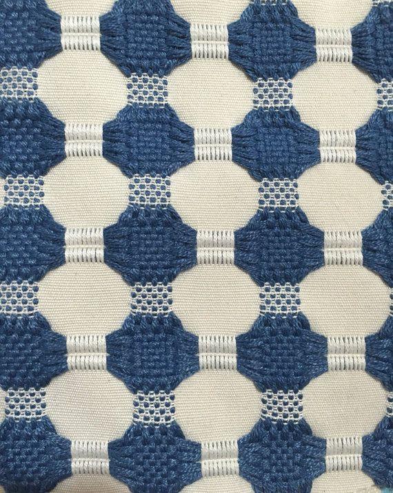 Woven Navy Dot Modern Upholstery Fabric Geometric Designer Family Room Beach House Pinterest