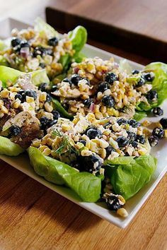 Pioneer woman Summer Chicken Salad with blueberries. With amazing dressing