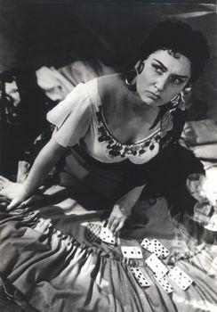 "Irina Arkhipova  in the party of Carmen  in the Opera  ""Carmen""  by Georges Bizet, 1956. Ирина Архипова в партии Кармен в опере «Кармен» Жоржа Бизе, 1956 г."