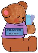 Prayer Bear craft, place a prayer request/person's name on each note card. Take them out at bedtime and pray.