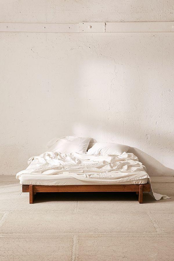 Sarah Slatted Platform Bed Platform Bed Bed Linen Design Bed