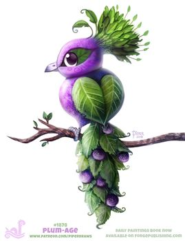 Daily Paint 1878# Plum-age by Cryptid-Creations