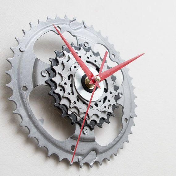 unique bike wall clock industrial wall clock by clocklight