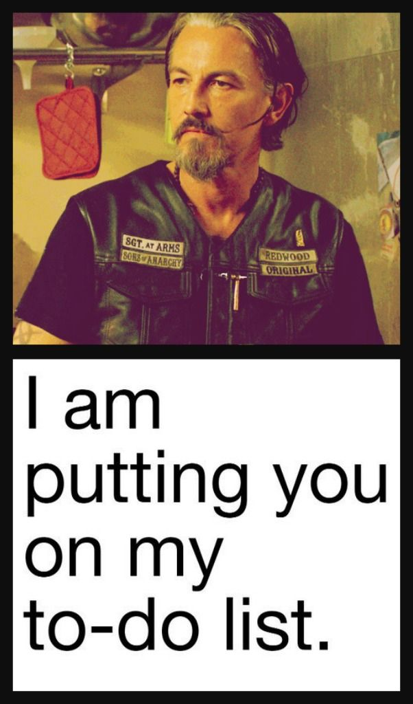 Chibs // Tommy Flanagan // Sons Of Anarchy // To Do List ;)