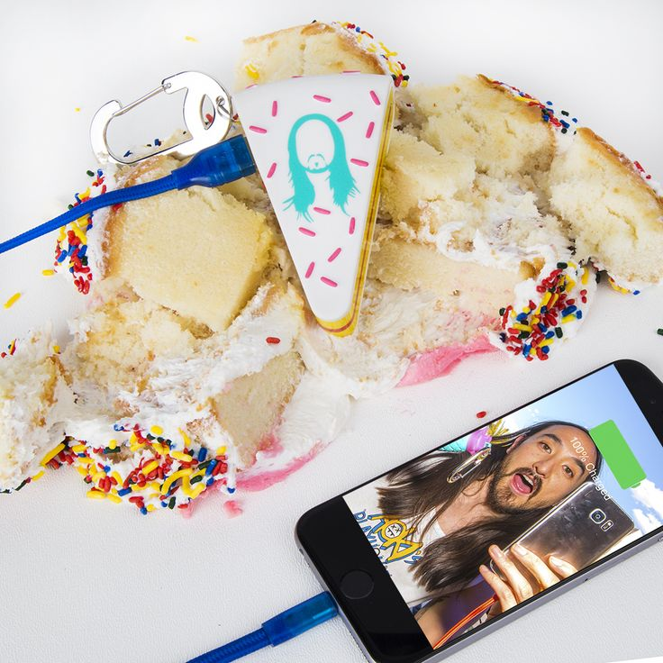 Get Caked by Steve Aoki with the BUQU CAKE ME portable phone charger