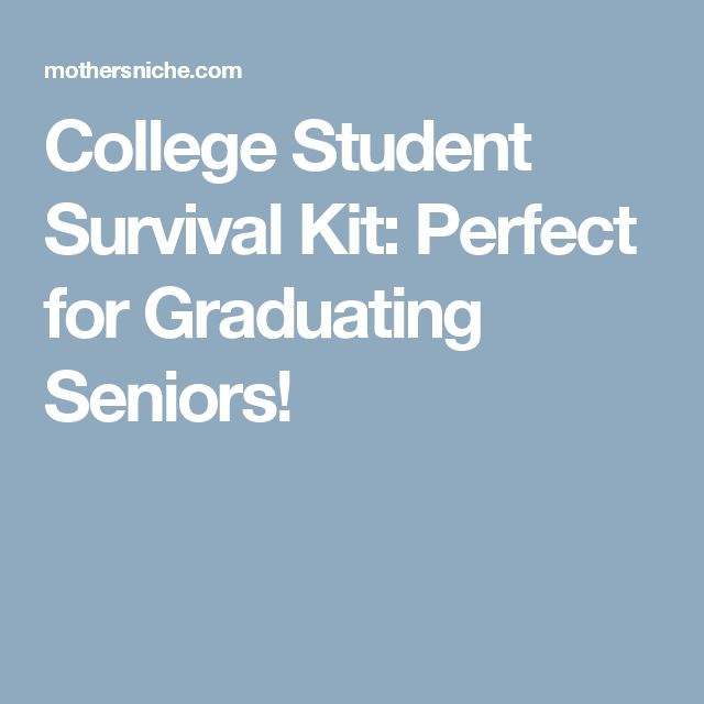 College Student Survival Kit: Perfect for Graduating Seniors!