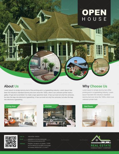 Real Estate Open House Flyer Template Flyer Templates Real