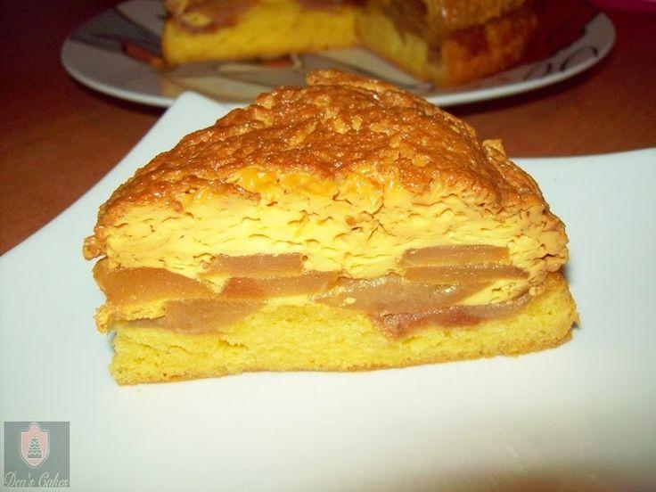 Dea's Cakes: Tort cu crema de zahar ars si mere