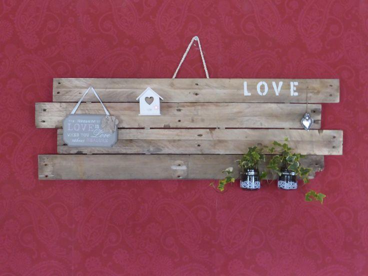 Houten wandbord decoratie