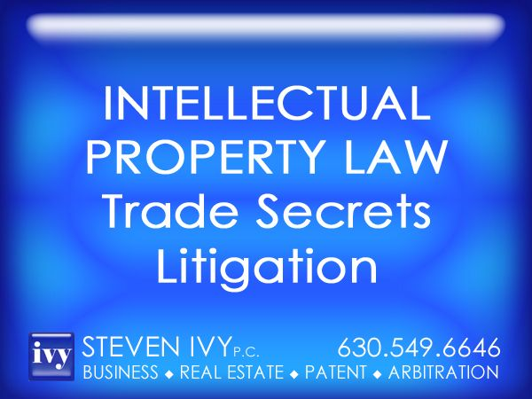 TRADE SECRETS LITIGATION -- STEVEN IVY P.C. is always ready to protect our clients' trade secrets or respond to challenges and accusations posed by their competitors. We understand the limitations of the law and the complexity of trade secret litigation. If the circumstances dictate an immediate action, our team can obtain ex parte and preliminary injunctions to stem the outflow of secret information. If necessary, we will engage in vigorous litigation to preserve our clients' trade secrets.