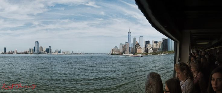 "A 'sweep' panorama of the New York City skyline from the Staten Island Ferry. Fujifilm X-Pro1 XF18mmF2 R ƒ/8.0  18.0 mm 1/500  200iso <a href=""http://www.kentjohnsonphotography.com.au/Travel/"" rel=""nofollow"">www.kentjohnsonphotography.com.au/Travel/</a>"