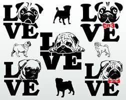 Image result for silhouette of pug