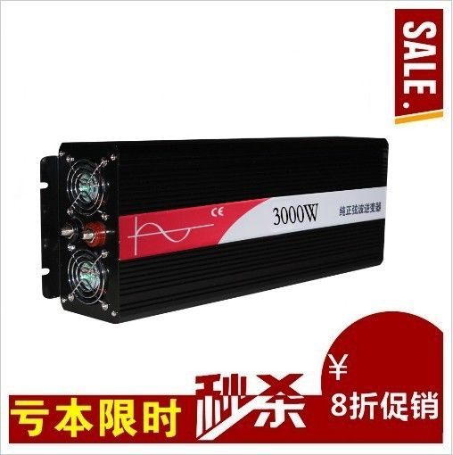 New Design 3000W Off Grid Inverter 12V 24V DC to AC 110V or 230V with 6000W Surge Power, 3000W Pure Sine Wave Power Inverter