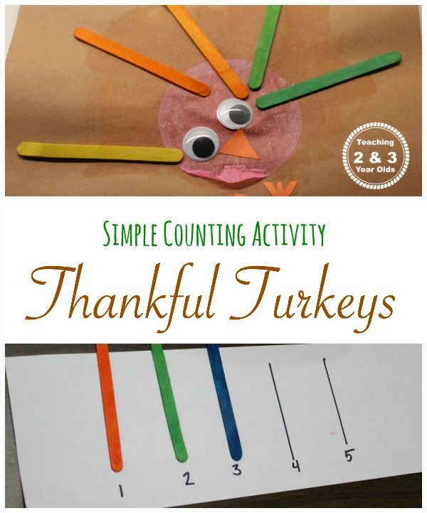 Thankful Turkeys Craft - Teaching 2 and 3 Year Olds