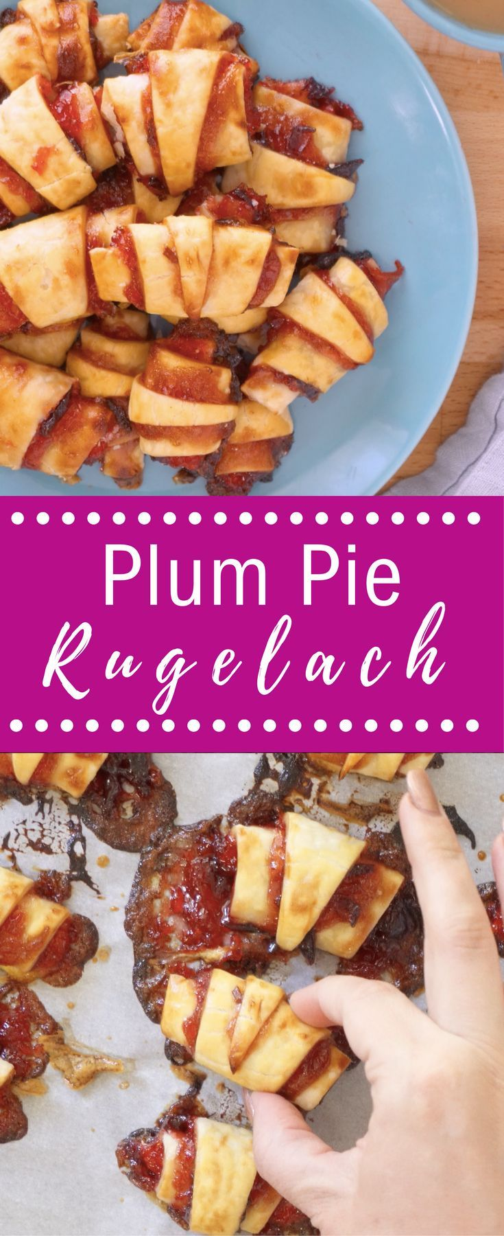 Check out our Plum Pie Reugelach recipe! Perfect combination of tart and sweet. Plums are the final �stone�  fruit of the season to appear in markets and signify the end of summer,  so their appearance is bittersweet!