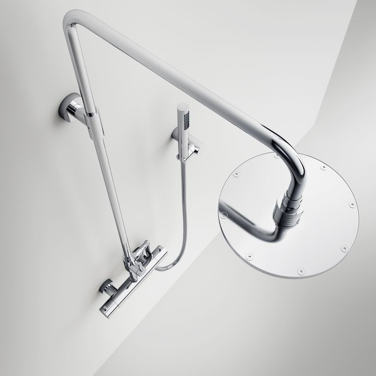Complete Semplice Luxe shower set in high quality where everything is processed in massive materials | Chrome surface