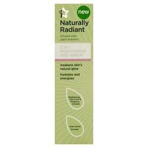 Superdrug Naturally Radiant 2 in 1 Moisturiser & Serum  - Awakens skin's natural glow - Hydrates & energises
