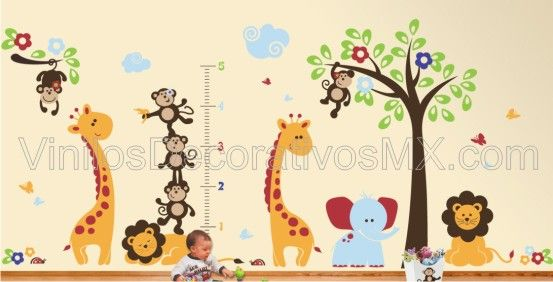 Leon nursery trees and tree wall decals on pinterest - Vinilos de arboles infantiles ...