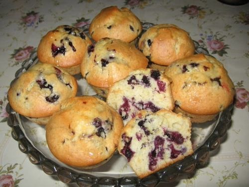 Muffinki z jagodami.