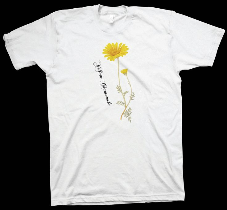 Yellow Chamomile T-Shirt , Botanics Floral Tee Science Nerd Geek Scientist - T-Shirts