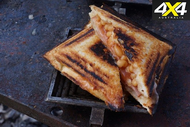 Recipe: delicious campfire-cooked Jaffle Iron Toastie