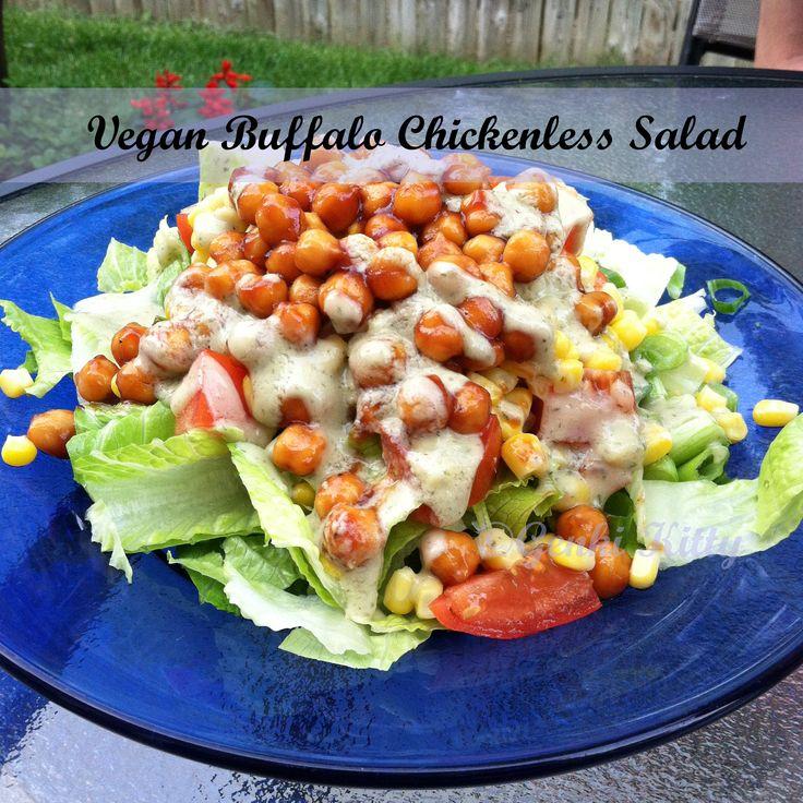 Vegan Buffalo Chickenless Salad Recipe