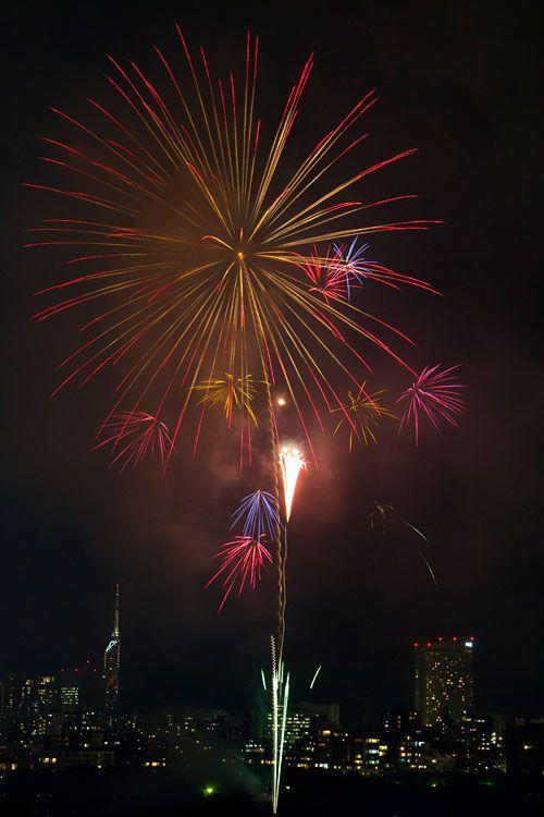 Fireworks in Fukuoka