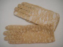 Lace Glove Short - Beige